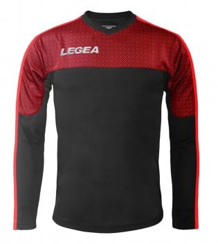 Maglia Uomo Calcio Sport Atene Legea Abbigliamento Sportivo Uomo Bambino GIOSAL-GrigioScuro-Rosso-3XS
