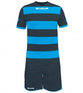 Kit Rugby Calcio Sport GIVOVA Abbigliamento Sportivo Uomo Calcistico GIOSAL-GrigioScuro/Turchese-M