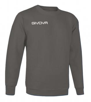 New Maglia Girocollo Givova One Uomo Donna Bambino Sport Relax Unisex GIOSAL-Grigio Scuro-3XS