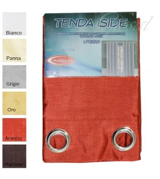 Tenda Iside Raso Effetto Seta Shantung Arredo Casa Porte Finestre Con Anelli Oscurante 140X290 GIOSAL