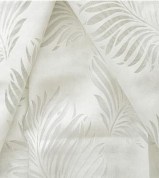 Tessuto Per Tenda Leone Bianco Foglie Palme Tendaggi Arredo Casa Pannello Telo GIOSAL