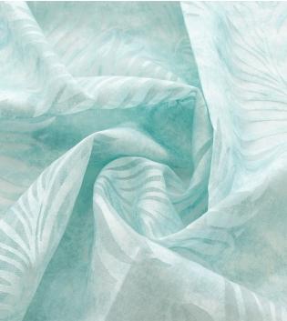 Tessuto Per Tenda Leone Azzurro Foglie Palme Tendaggi Arredo Casa Pannello Telo GIOSAL
