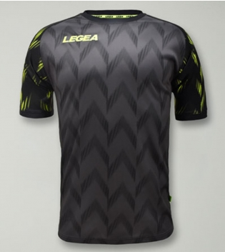 Maglia Calcio Sport LEGEA Girona Manica Corta Abbigliamento Sportivo GIOSAL-GrigioScuro-VerdeAcido-S