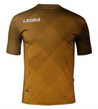 Maglia Uomo Calcio Sport LEGEA Breda Uomo Bambino Abbigliamento Calcistico Sportivo GIOSAL-Marrone-ArancioFluo-S