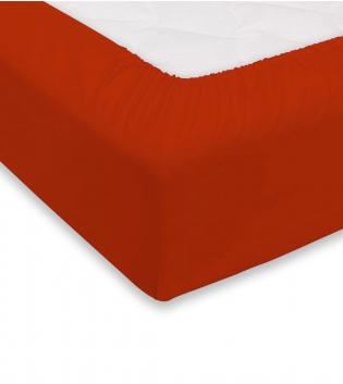 Lenzuolo Sotto Maestri Cotonieri Con Angoli Cotone Matrimoniale Maxi 180x220cm Vari Colori GIOSAL-Mattone