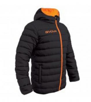 Giubbotto Invernale GIVOVA Olanda Sport Relax Uomo Donna Bambino GIOSAL-Nero/ArancioFluo-2XS