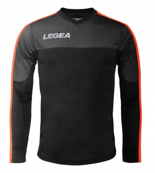 Maglia Uomo Calcio Sport Atene Legea Abbigliamento Sportivo Uomo Bambino GIOSAL-Nero-ArancioFluo-XS