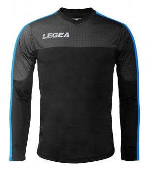Maglia Uomo Calcio Sport Atene Legea Abbigliamento Sportivo Uomo Bambino GIOSAL-Nero-CelesteFluo-3XS