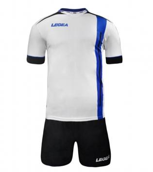 Kit Calcio Sport LEGEA Dublino Completo Calcetto Squadra GIOSAL-Azzurro-Nero-XL
