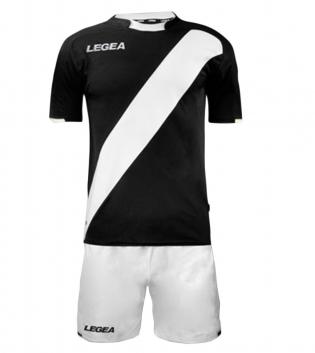 Kit Completo Calcio Uomo LEGEA Lima Abbigliamento Sportivo Sport GIOSAL-Nero-Bianco-S