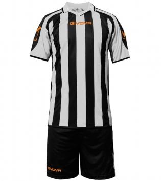 Kit Supporter Calcio Sport GIVOVA Abbigliamento Sportivo Uomo Calcistico GIOSAL-Nero/Bianco-2XS