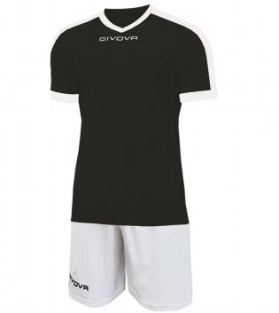 Kit Revolution Calcio Sport GIVOVA Abbigliamento Sportivo Uomo Calcistico GIOSAL-Nero/Bianco-4XS