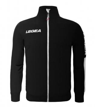 Felpa Uomo California Full Zip Abbigliamento LEGEA Sportivo Uomo Bambino GIOSAL-Nero-Bianco-3XS