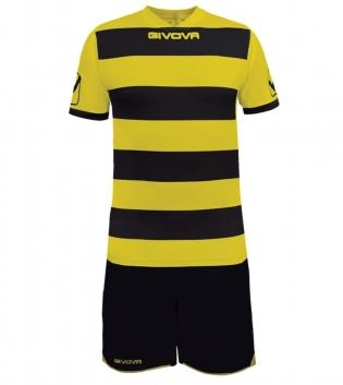 Kit Rugby Calcio Sport GIVOVA Abbigliamento Sportivo Uomo Calcistico GIOSAL-Nero/Giallo-M