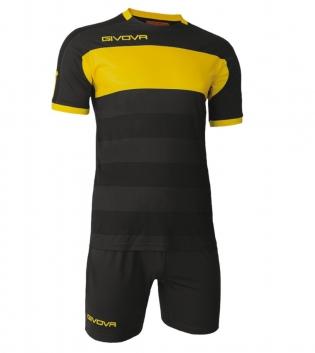 Kit Derby Calcio Sport GIVOVA Abbigliamento Sportivo Calcistico GIOSAL-Nero/Giallo-M