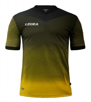 Maglia Sport Uomo Calcio LEGEA Bilbao Abbigliamento Sportivo Calcistico GIOSAL-Nero-Giallo-S