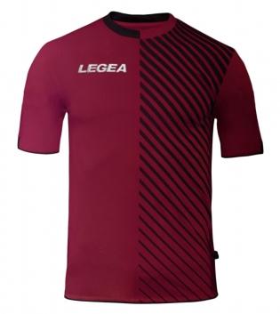 Maglia Uomo Sport LEGEA Calcio Braga Abbigliamento Sportivo Calcistico Uomo Bambino GIOSAL-Nero-Granata-S