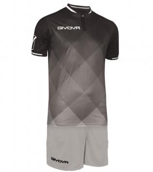Kit Shade Calcio Sport GIVOVA Abbigliamento Sportivo Uomo Calcistico GIOSAL-Nero/Grigio-M
