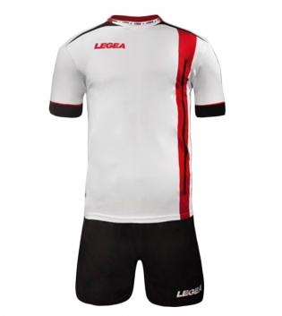 Kit Calcio Sport LEGEA Dublino Completo Calcetto Squadra GIOSAL-Nero-Rosso-S