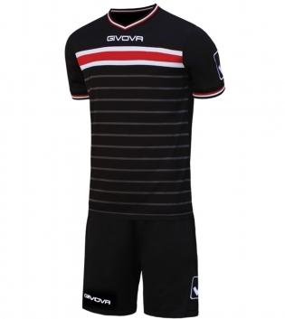 Kit Skill Calcio Sport GIVOVA Abbigliamento Sportivo Uomo Calcistico GIOSAL-Nero/Rosso-L