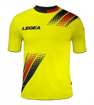 Maglia Uomo Calcio Sport LEGEA Salamanca Abbigliamento Sportivo Uomo Bambino GIOSAL-Nero-Rosso-S