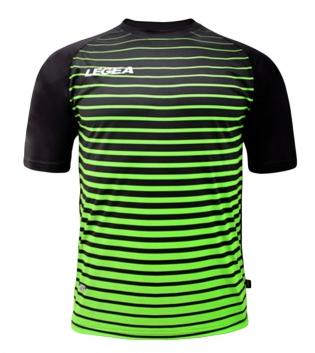 Maglia Calcio Sport LEGEA Strasburgo Abbigliamento Calcistico Sportivo GIOSAL-Nero-Verde-S