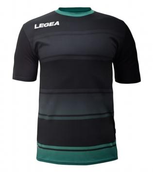 Maglia Uomo Sport Calcio LEGEA Lubecca Abbigliamento Sportivo GIOSAL-Nero-Verde-S