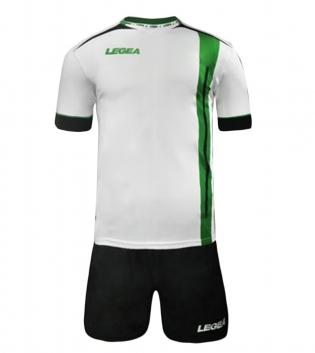 Kit Calcio Sport LEGEA Dublino Completo Calcetto Squadra GIOSAL-Nero-Verde-S