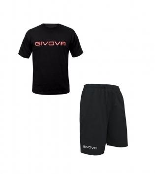 Completo Outfit Tuta GIVOVA Nero Bermuda Friend T-Shirt Spot  Uomo Donna Bambino GIOSAL