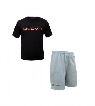 Completo Outfit Tuta GIVOVA Nero Grigio Bermuda Friend T-Shirt Spot Uomo Donna Bambino GIOSAL
