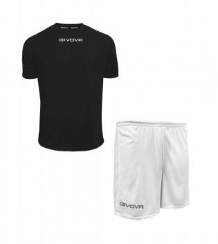 Outfit Givova Completo Pantaloncini T-Shirt Givova One Nero Bianco Uomo Donna Bambino GIOSAL