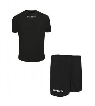 Outfit Givova Completo Uomo Donna Bambino Pantaloncini T-Shirt Givova One Nero GIOSAL