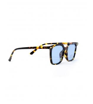Occhiali Unisex Sunglasses Vetro Blu Animalier Casual Marroni Uomo Donna GIOSAL
