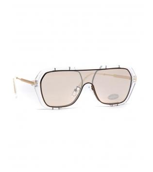 Occhiali da Sole Unisex Sunglasses Lenti Sfumate Bordo Trasparente GIOSAL