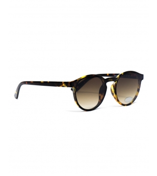 Occhiali Unisex Sunglasses Vetro Sfumato Animalier Casual Marroni Uomo Donna GIOSAL