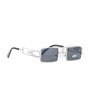 Occhiali da Sole Unisex Lenti Grigi Sottili Squadrate Uomo Donna Sunglasses GIOSAL