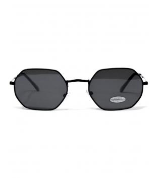 Occhiali da Sole Neri Sunglasses Esagonali Casual Unisex Uomo Donna GIOSAL