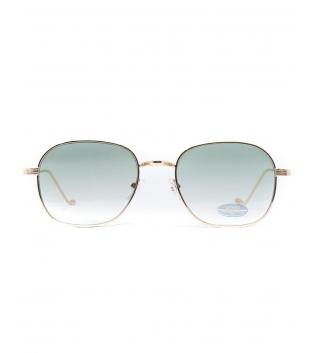 Occhiali da Sole Unisex Sunglasses Oro Lenti Verdi Casual Uomo Donna GIOSAL
