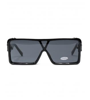 Occhiali da Sole Neri Lenti Scure Doppie Casual Unisex Sunglasses GIOSAL