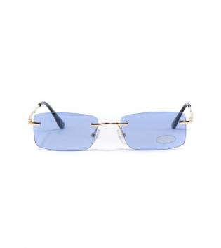 Occhiali da Sole Unisex Sunglasses Lenti Blu Squadrate Casual Sottili GIOSAL