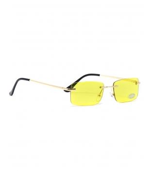 Occhiali da Sole Unisex Sunglasses Lenti Gialle Squadrate Casual Sottili GIOSAL