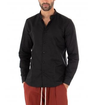 Outfit Uomo Casual Camicia Pantalone Lino Paul Barrell Nero GIOSAL