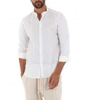 Outfit Uomo Casual Camicia Pantalone Lino Paul Barrell Nero Rosso GIOSAL
