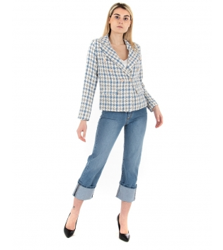 Outfit Donna Eiki Completo Giacca Twill Jeans Denim Casual GIOSAL