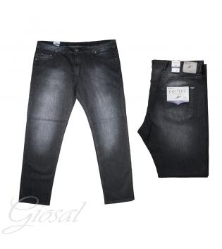 Pantalone Uomo Calibrato Jeans Denim Comfort Taglie Forti Equipe GIOSAL