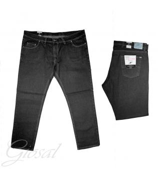 Pantalone Uomo Jeans Denim Nero Comfort Taglie Forti Made In Italy Calibrato Over GIOSAL