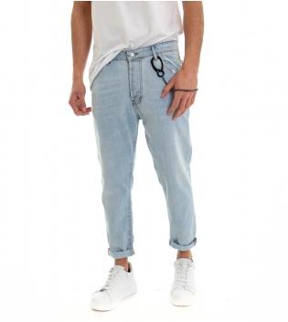 Pantalone Uomo Jeans Catena Denim Chiaro Casual Cinque Tasche GIOSAL