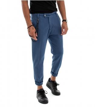 Pantalone Uomo Lungo Jeans Tinta Unita  Avion Classico Tasca America GIOSAL