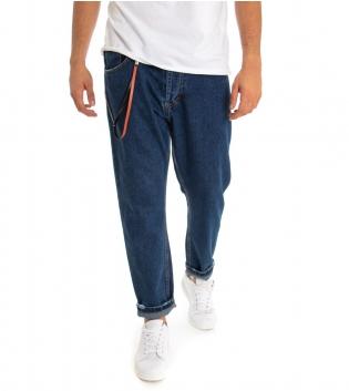 Pantalone Uomo Lungo Jeans Denim MOD Cinque Tasche Cavallo Basso GIOSAL