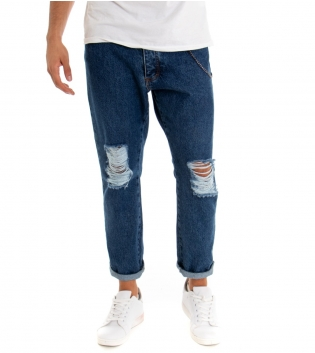 Pantalone Uomo Jeans Rotture Black Svnday Denim Catenina GIOSAL